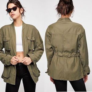 NWT Free People military army jacket small